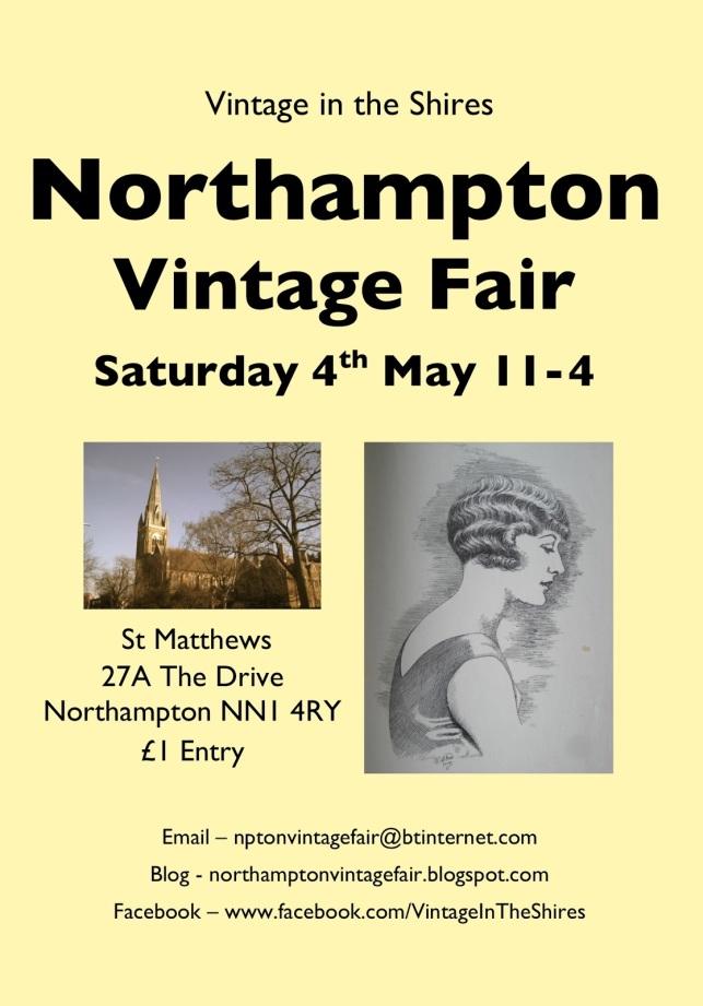 Northampton Vintage Fair poster, 4th May 2013