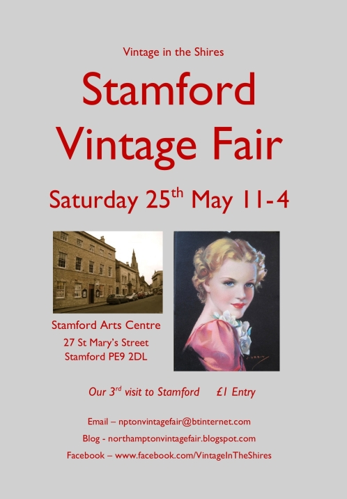Stamford Vintage Fair poster - 25th May 2013