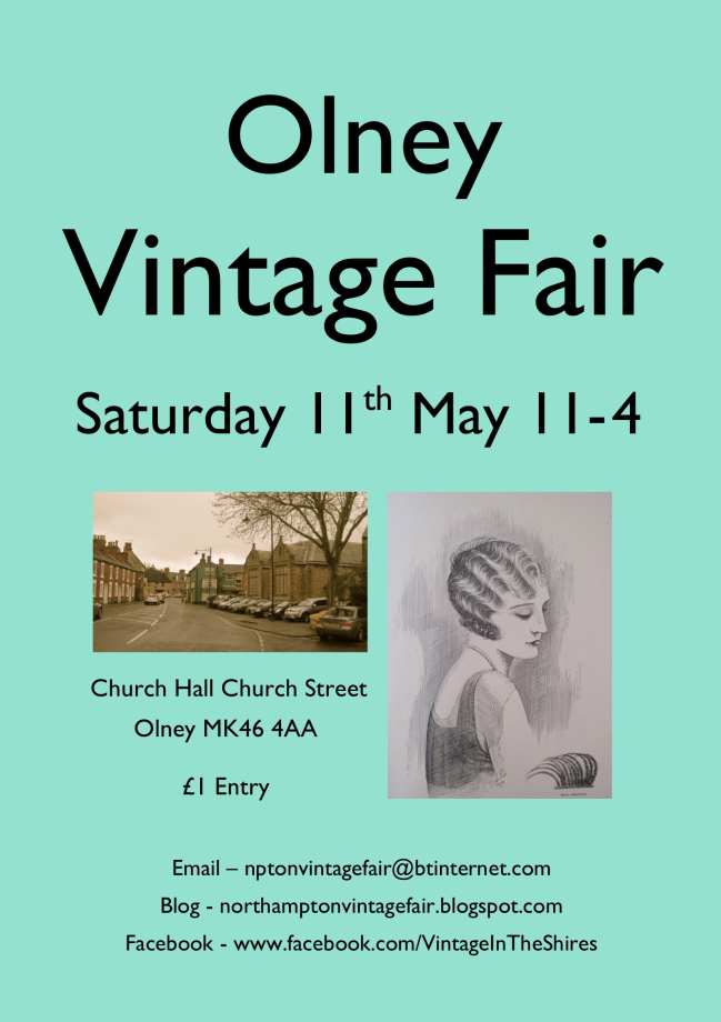 Olney Vintage Fair poster 11 May 2013