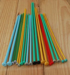 plastic knitting needles