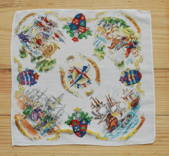 festival of britain handkerchief