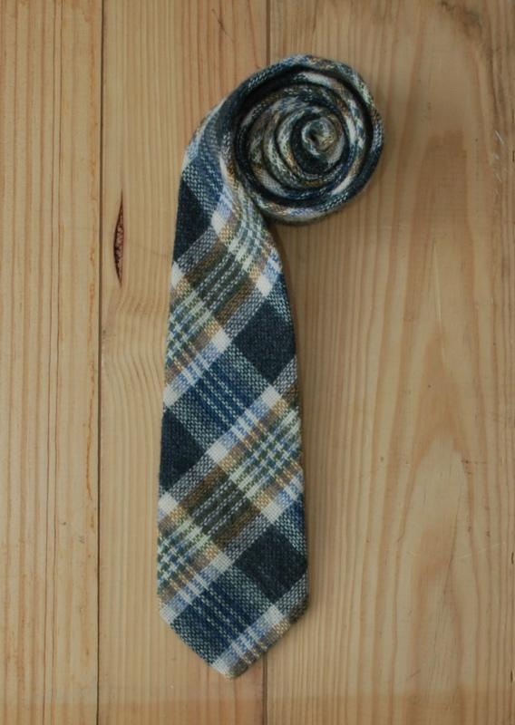 vintage plaid tie