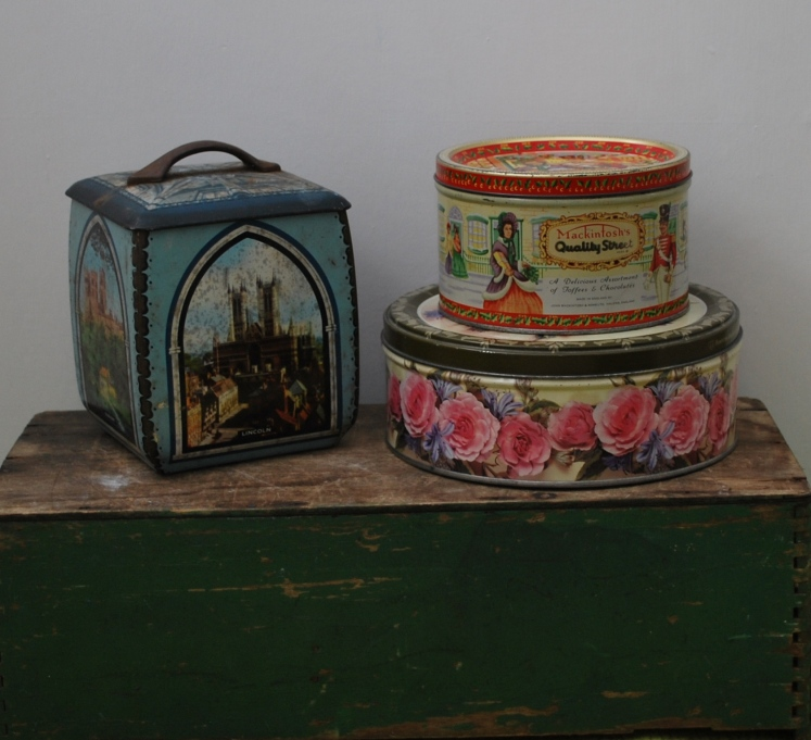vintage tins by Lost Property Vintage
