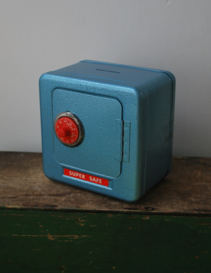 vintage toy safe money box by Lost Property Vintage