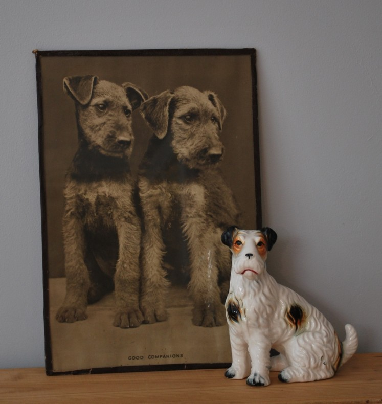 vintage dog picture and ornament by Lost Property Vintage