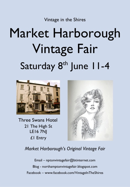Market Harborough Vintage Fair poster - 8th June 2013