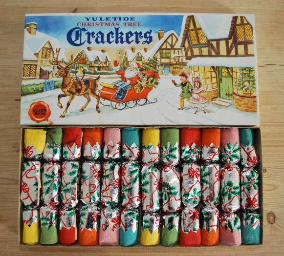vintage christmas crackers from Lost Property Vintage