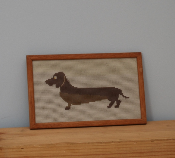 dashchund tapestry from Lost Property Vintage