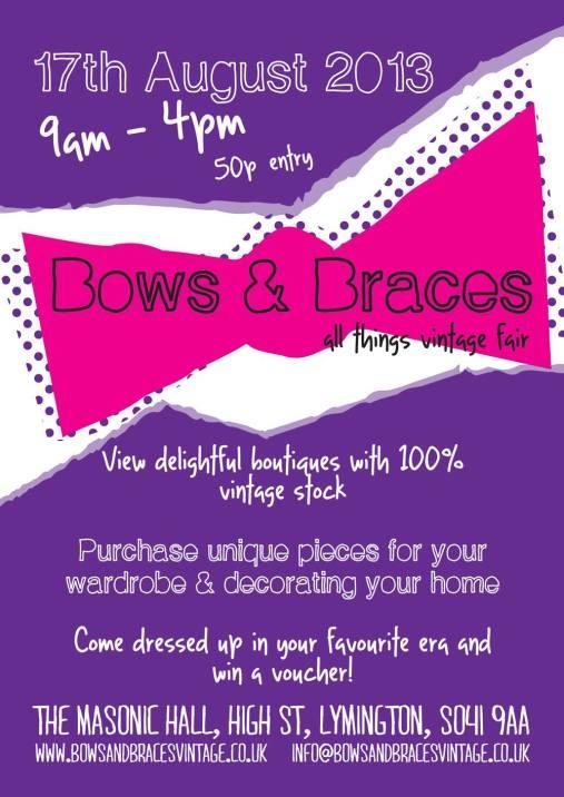 Bows and Braces Vintage Fair, Lymington, Hampshire, 17th August 2013
