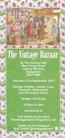 Vintage Bazaar at Hartley Wintney, Hampshire, 21st September 2013