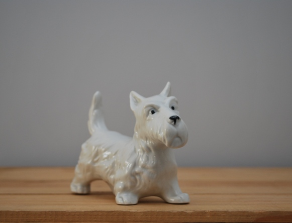 vintage scottie dog ornament from Lost Property Vintage