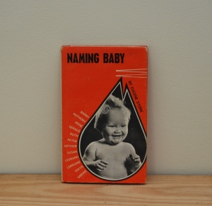Vintage baby name book from Lost Property Vintage